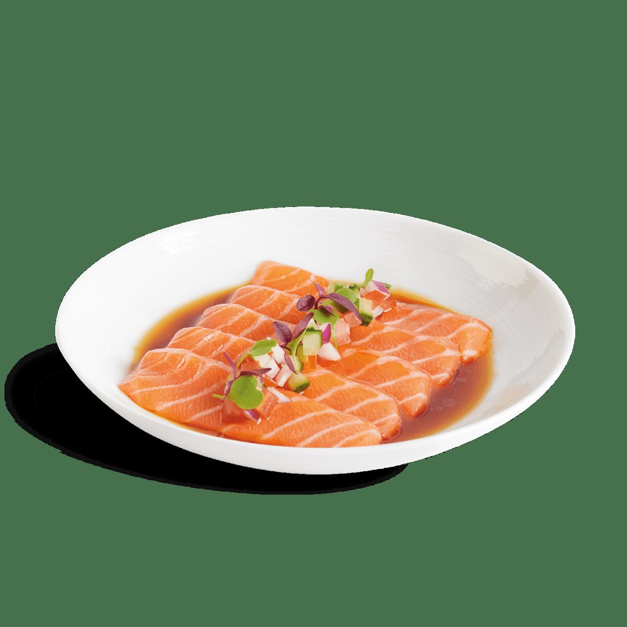 Salmon Ponzu Salsa Sashimi